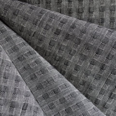 Woven Shirting Plaid Texture Grey - Fabric - Style Maker Fabrics