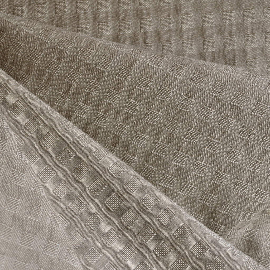 Woven Shirting Plaid Texture Natural SY - Sold Out - Style Maker Fabrics