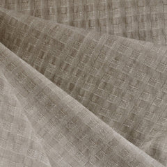 Woven Shirting Plaid Texture Natural - Fabric - Style Maker Fabrics