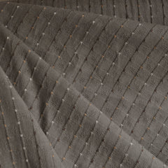 Woven Shirting Stripe Dot Taupe - Fabric - Style Maker Fabrics
