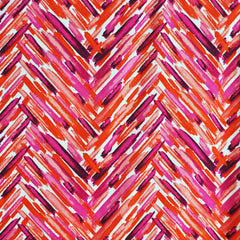 Painterly Herringbone ITY Knit Fuchsia/Coral - Sold Out - Style Maker Fabrics