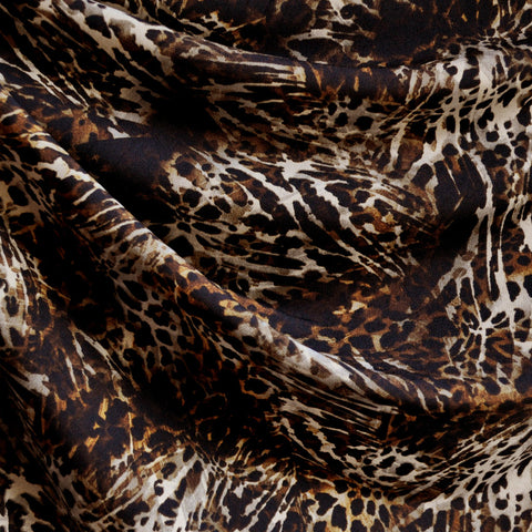 Animal Print ITY Knit Black/Brown/Beige SY
