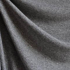 Fine Rib Knit Heather Grey - Sold Out - Style Maker Fabrics