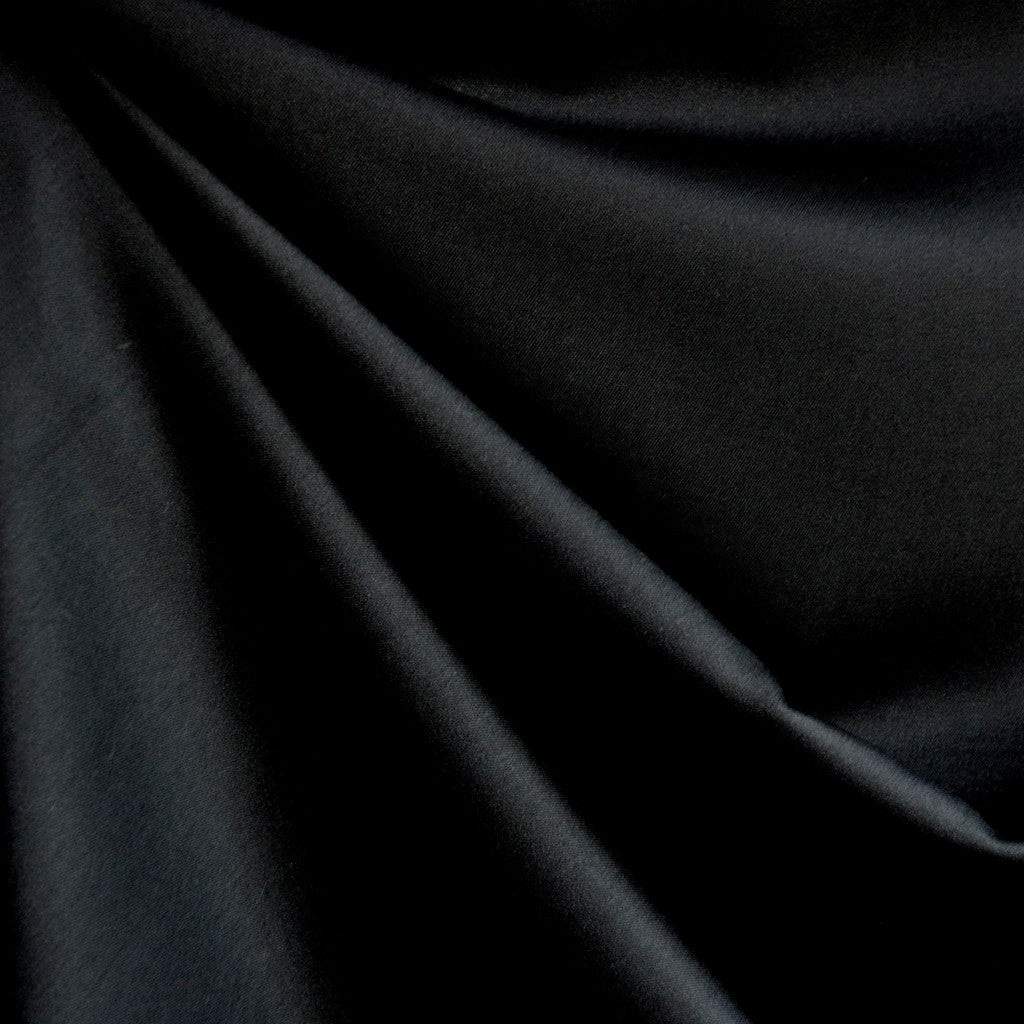 Rayon Shirting Solid Black - Fabric - Style Maker Fabrics