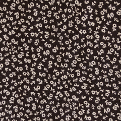 Rayon Crepe Floral Ditsy Black/Beige - Sold Out - Style Maker Fabrics