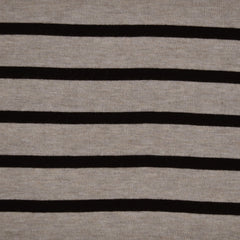 Jersey Sweater Knit Stripe Oatmeal/Black - Sold Out - Style Maker Fabrics