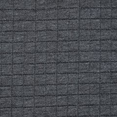 Reversible Quilted Knit Charcoal/Lt Grey - Sold Out - Style Maker Fabrics