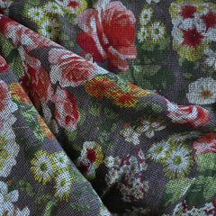 Rayon Crepe Textured Floral Taupe/Multi - Sold Out - Style Maker Fabrics