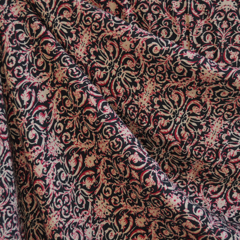 Rayon Crepe Damask Print Espresso/Wine SY