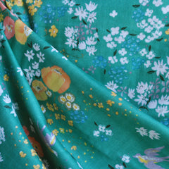 Double Gauze En Garden Floral Jade - Sold Out - Style Maker Fabrics