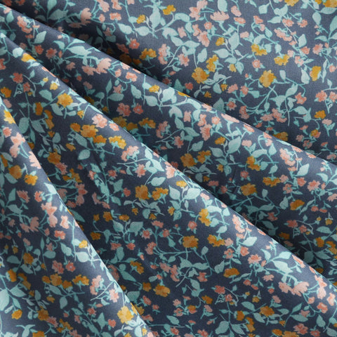 Woodland Clearing Lawn Floral Ditsy Grey