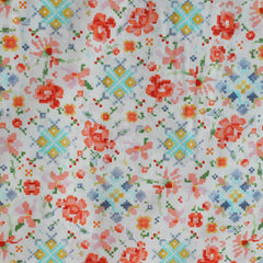 Woodland Clearing Lawn Floral Patchwork Cream SY - Sold Out - Style Maker Fabrics