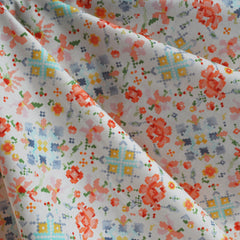 Woodland Clearing Lawn Floral Patchwork Cream - Fabric - Style Maker Fabrics