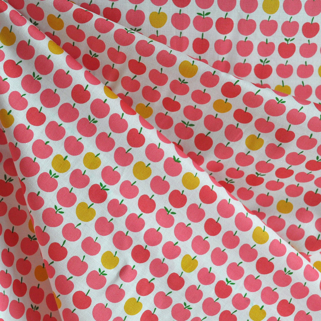 London Calling Lawn Apples Pink/Coral - Sold Out - Style Maker Fabrics