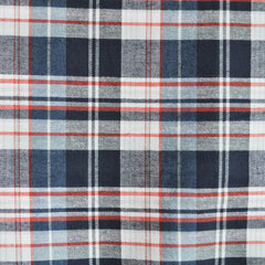 Indigo Plaid Shirting Blue/Red - Fabric - Style Maker Fabrics
