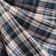 Indigo Plaid Shirting Blue/Red SY - Sold Out - Style Maker Fabrics