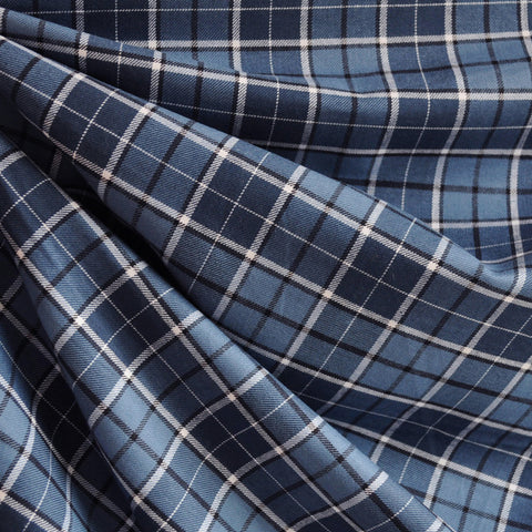 Indigo Plaid Shirting Blues SY
