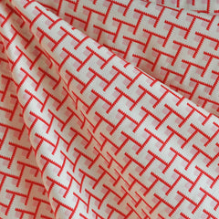 Momentum Voile Structure Pink/Cream - Sold Out - Style Maker Fabrics