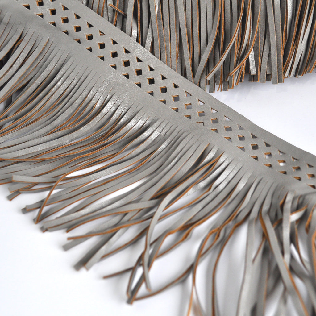 Faux Leather Fringe Accent Trim - Trim - Style Maker Fabrics