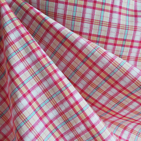 Corded Plaid Shirting Pink/Apricot