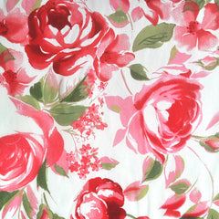 Rayon Sheer Crepe Floral Coral - Sold Out - Style Maker Fabrics