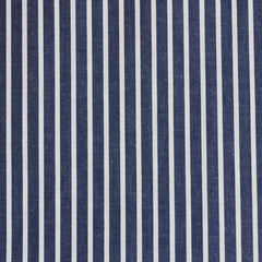 Bengal Stripe Shirting Indigo/White SY - Sold Out - Style Maker Fabrics