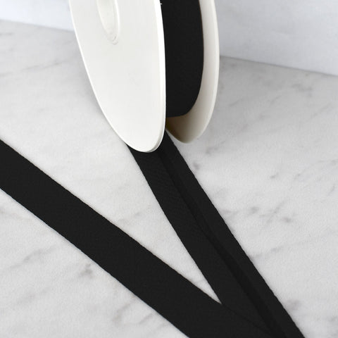 Soft Crepe Bias Tape Black