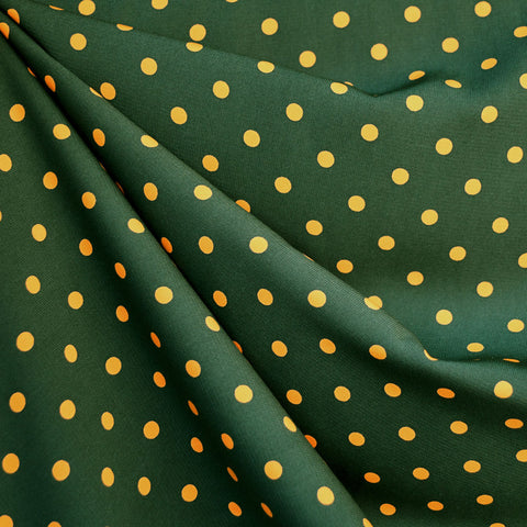 Team Spirit Polka Dot Challis Green/Yellow