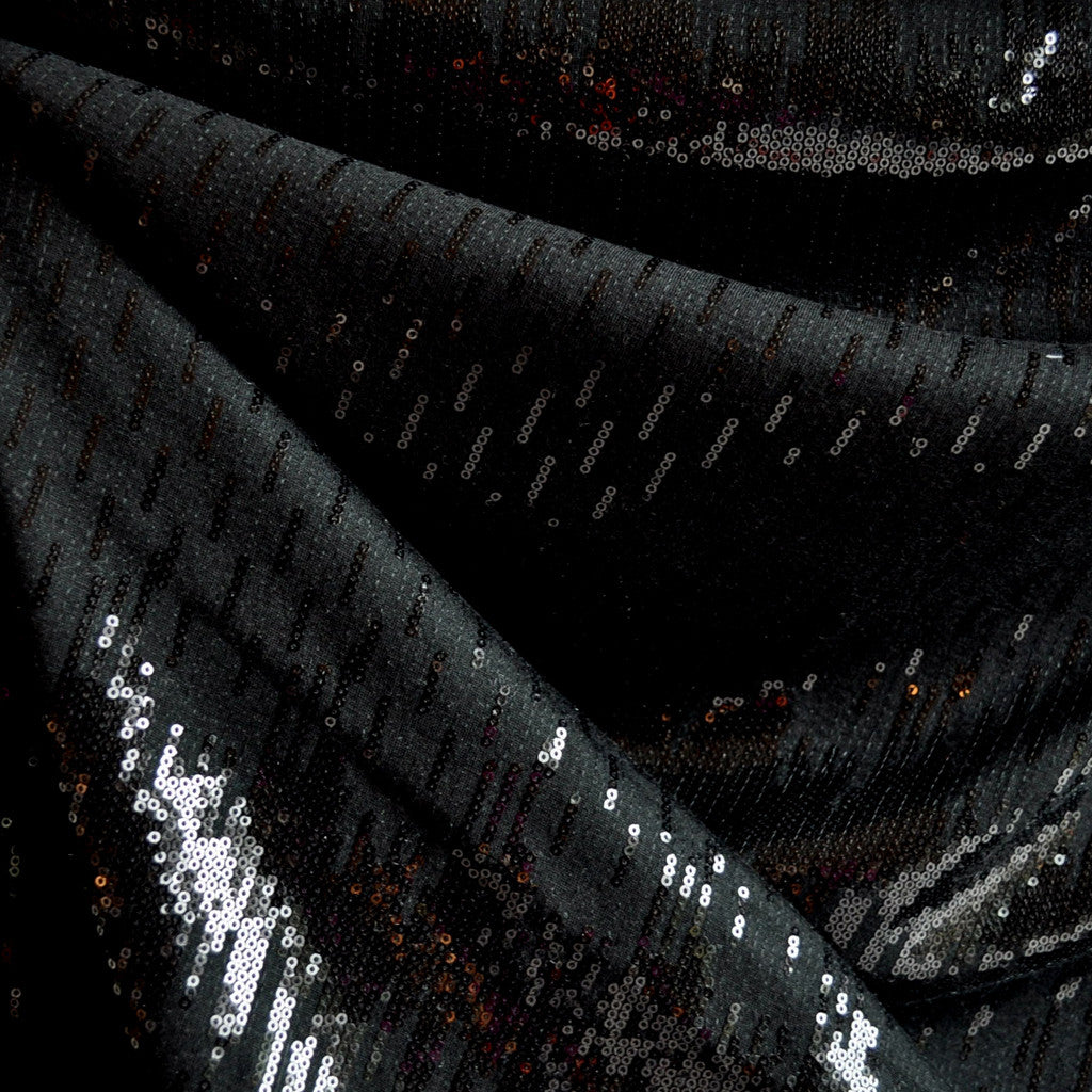 Sequin Knit Gradated Black - Fabric - Style Maker Fabrics