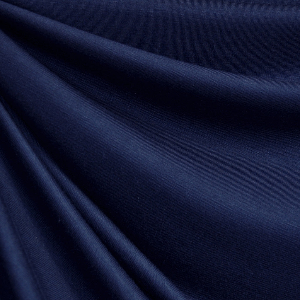 Jersey Knit Solid Navy - Fabric - Style Maker Fabrics