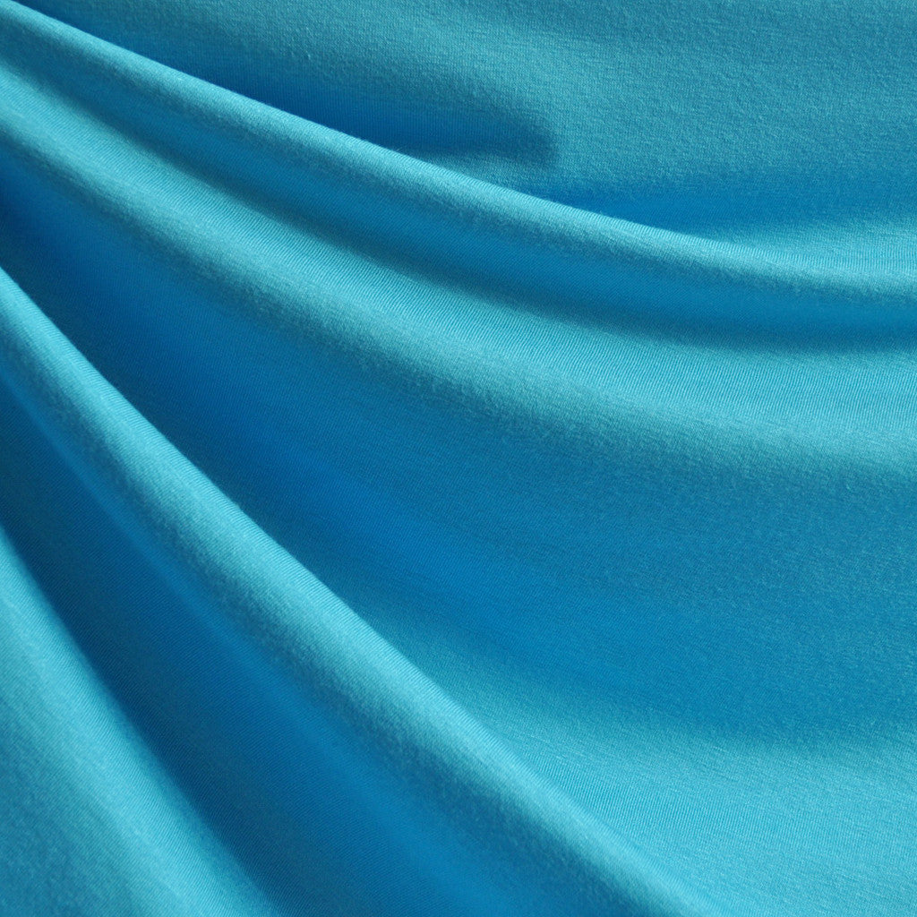 Jersey Knit Solid Turquoise SY - Sold Out - Style Maker Fabrics