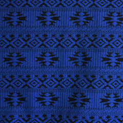 Jacquard Double Knit Geometric Royal/Black - Fabric - Style Maker Fabrics