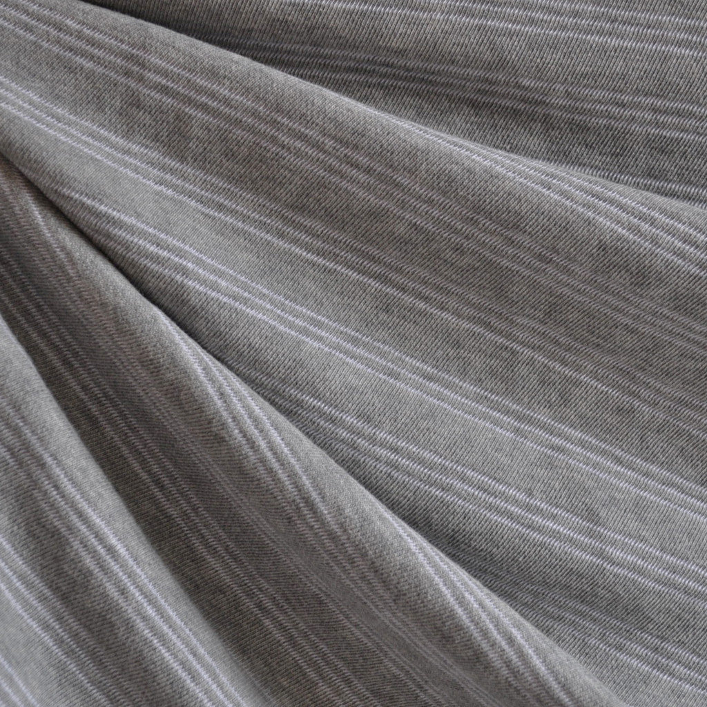 French Terry Triple Pin Stripe Heather Grey SY - Sold Out - Style Maker Fabrics