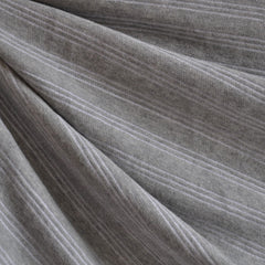 French Terry Triple Pin Stripe Heather Grey - Fabric - Style Maker Fabrics
