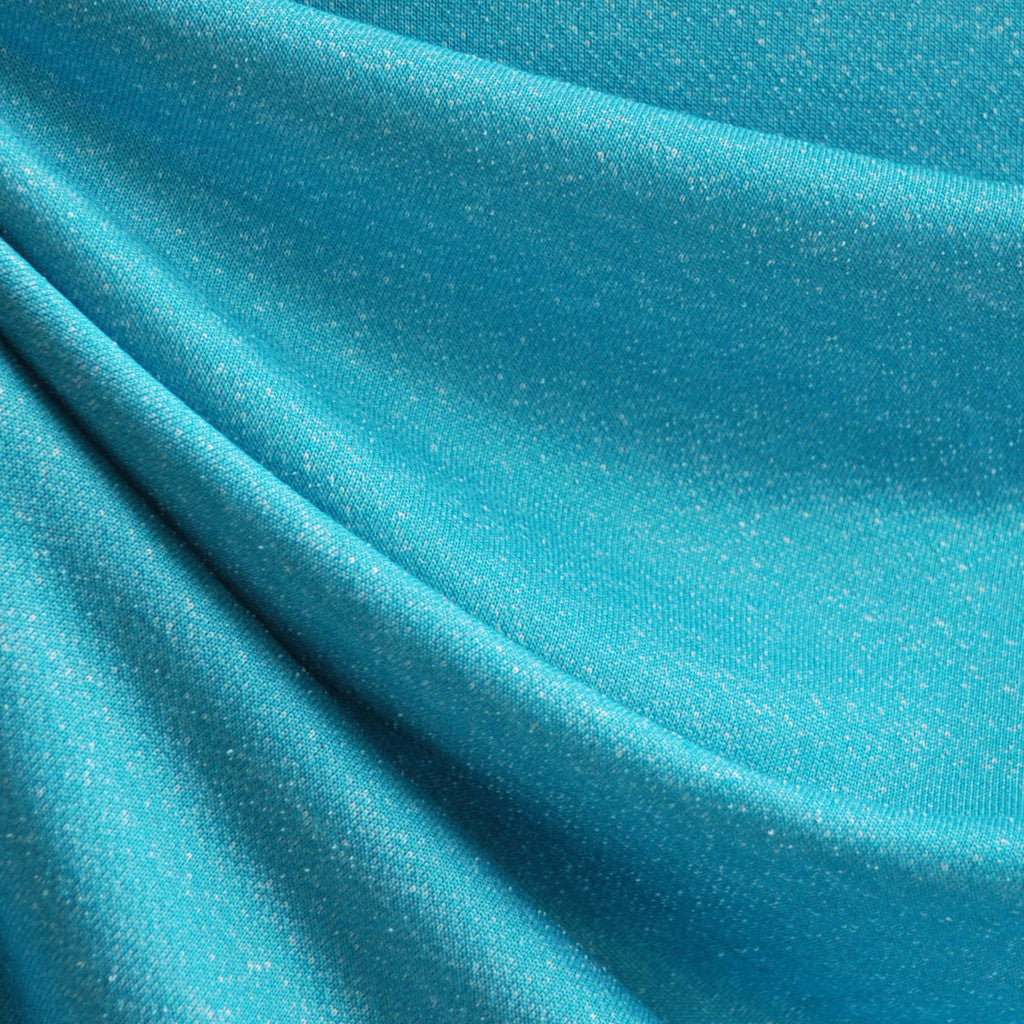 Athletic French Terry Heather Aqua - Sale - Style Maker Fabrics