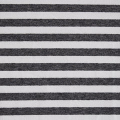 French Terry Ponte Stripe Charcoal - Sold Out - Style Maker Fabrics