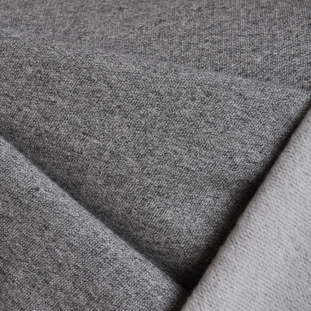 Brushed French Terry Solid Heather Grey - Sold Out - Style Maker Fabrics