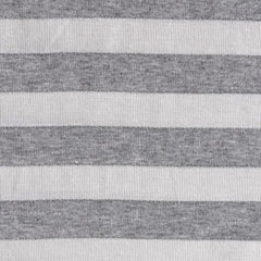 Jersey Knit Awning Stripe Grey/White/Metallic SY - Sold Out - Style Maker Fabrics