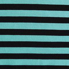 Jersey Knit Awning Stripe Jade/Black - Sold Out - Style Maker Fabrics