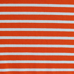 Jersey Knit Pencil Stripe Orange/White SY - Selvage Yard - Style Maker Fabrics