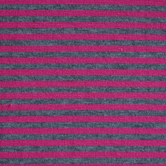 Jersey Knit Candy Stripe Magenta/Grey - Sold Out - Style Maker Fabrics