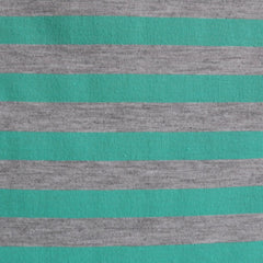 Jersey Knit Awning Stripe Jade/Light Grey SY - Selvage Yard - Style Maker Fabrics