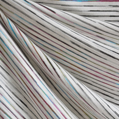 Jersey Knit Pin Stripe Vanilla/Multi