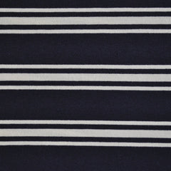 Jersey Knit Stripe Navy/Cream - Sold Out - Style Maker Fabrics