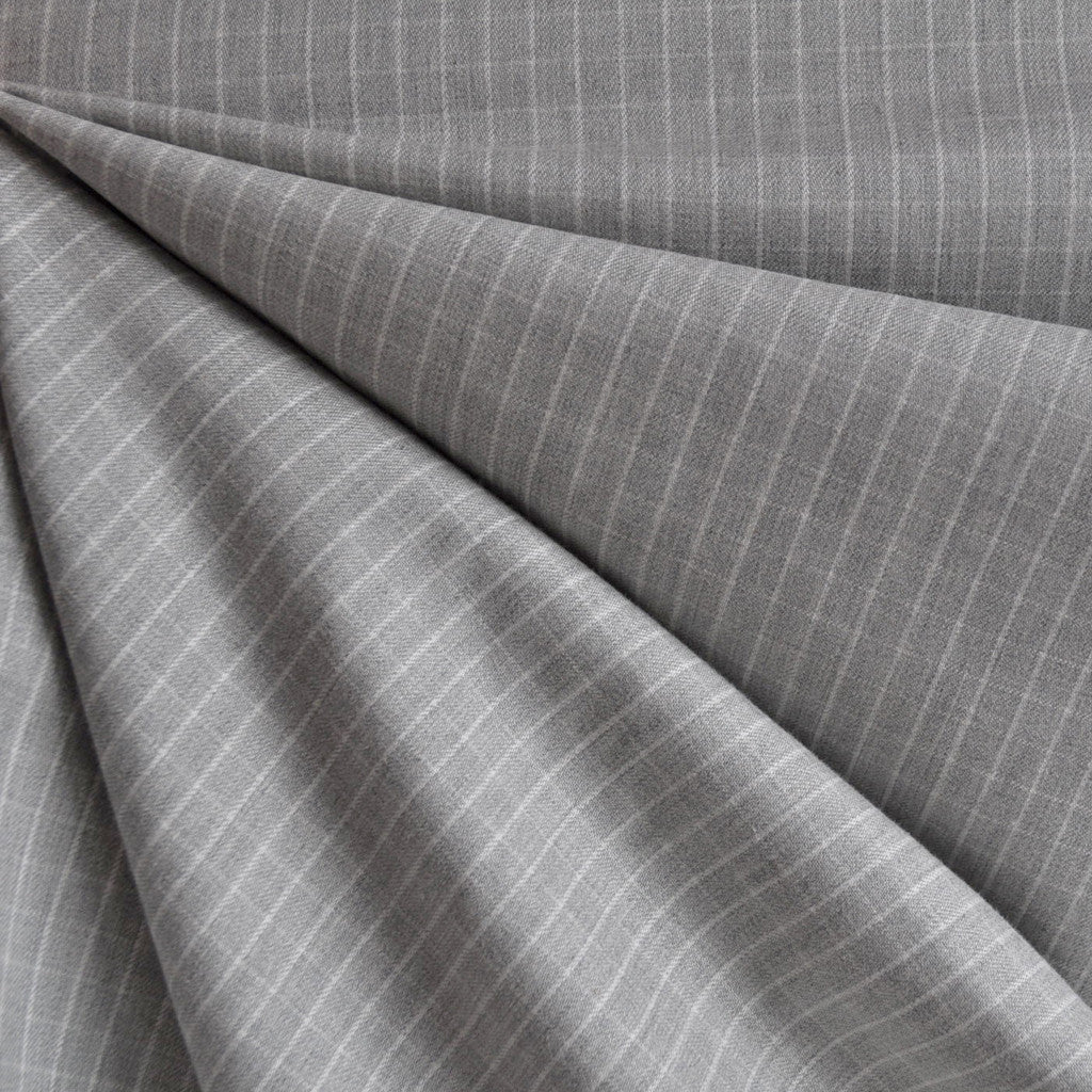 Windowpane Check Shirting Heather Grey - Fabric - Style Maker Fabrics
