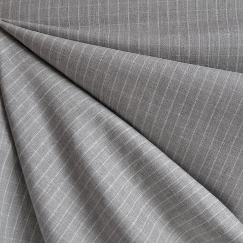Windowpane Check Shirting Heather Grey