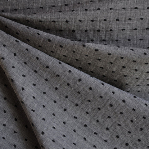 Clip Dot Shirting Grey/Black