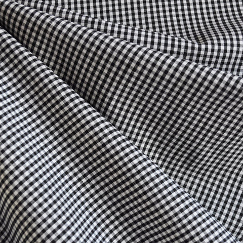 Mini Gingham Shirting Black/White