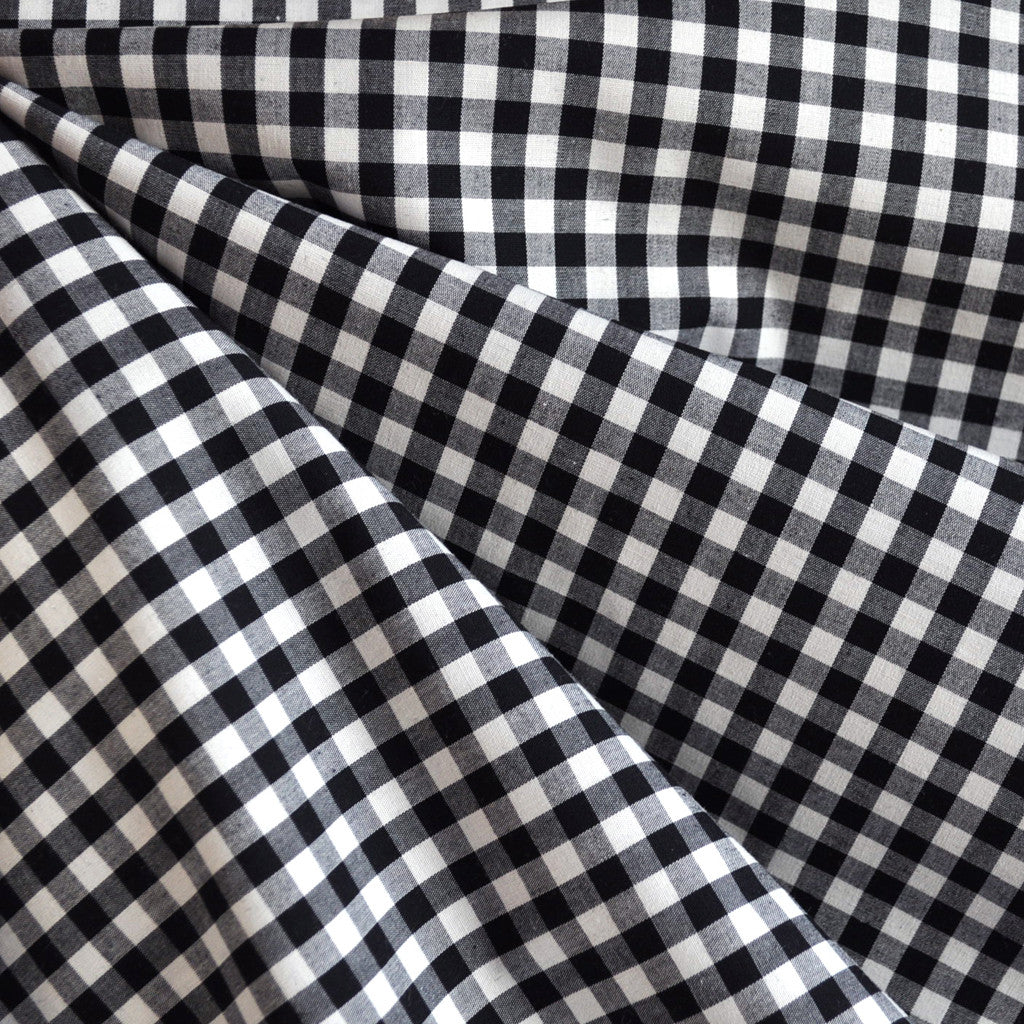 Gingham Shirting Black/White - Fabric - Style Maker Fabrics