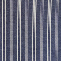 Denim Shirting Stripe Indigo/Vanilla - Sold Out - Style Maker Fabrics